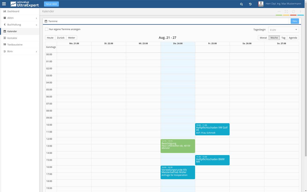 WinValue UltraExpert Kalender